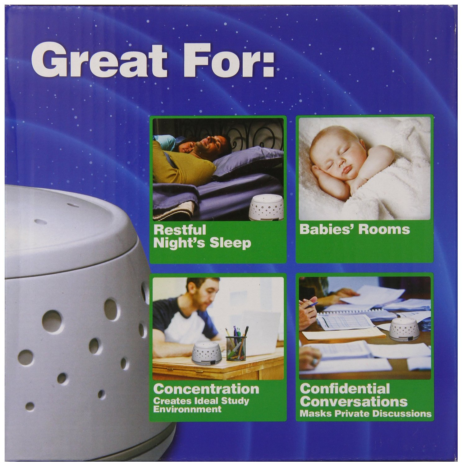 Better Sleep White Noise Sound Machine For Adults And: Sleep Easy Sound Conditioner
