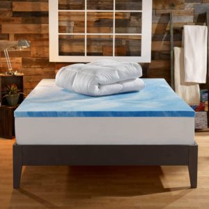 Sleep Innovations 4-inch dual layer gel memory foam mattress toppers