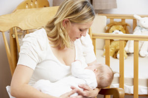 Mother Breastfeeding Baby In Nursery while working at home - difficulty sleeping