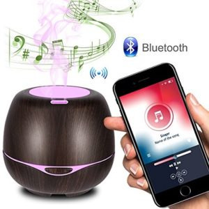 iTavah Aromatherapy Essential Oil Diffuser with Bluetooth Speaker - aromatherapy sleep sound machines